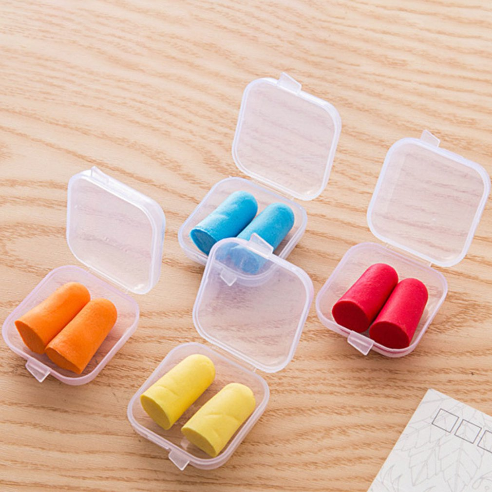 Soft Sponge Ear Plugs Sound Insulation Ear Protection Earplugs Noise Reduction Sleeping Plugs With Storage Box