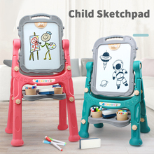 Children's double-sided magnetic drawing board toy bracket type lifting home blackboard baby graffiti drawing board
