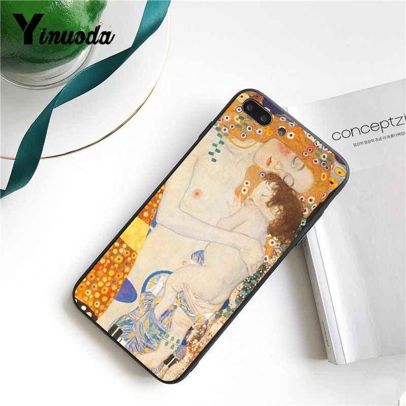 Yinuoda Nụ Hôn do Gustav Klim Vàng Nước Mắt Cây Thuyền Ốp Lưng Điện Thoại cho Iphone X XS MAX 6 6 S 7 7plus 8 8Plus 5 5S SE XR 11 Pro Max