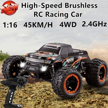 High Speed Brushless RC Racing Car 2.4G 1:16 45KM/H Ultra-High Speed 150m 4WD Shock Absorption Remote Control Car Model Kids Toy image