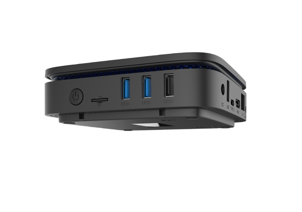 AK1 dans décodeur Apollo Lake Celeron Win10 J3455 4GB 32GB BT4.0 2.4G/5.8G WIFI 4K support de boîtier TV 2.5 ''hdd