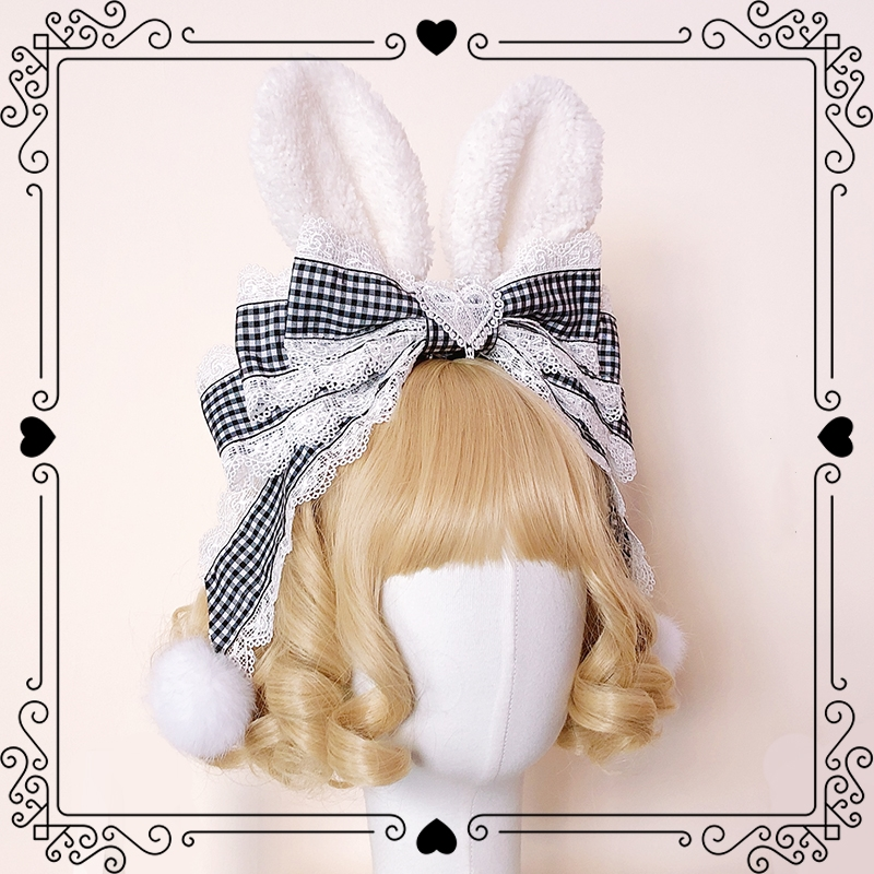 Купить аниме косплей милые лолита аксессуары милый кружевной бант кроличьи