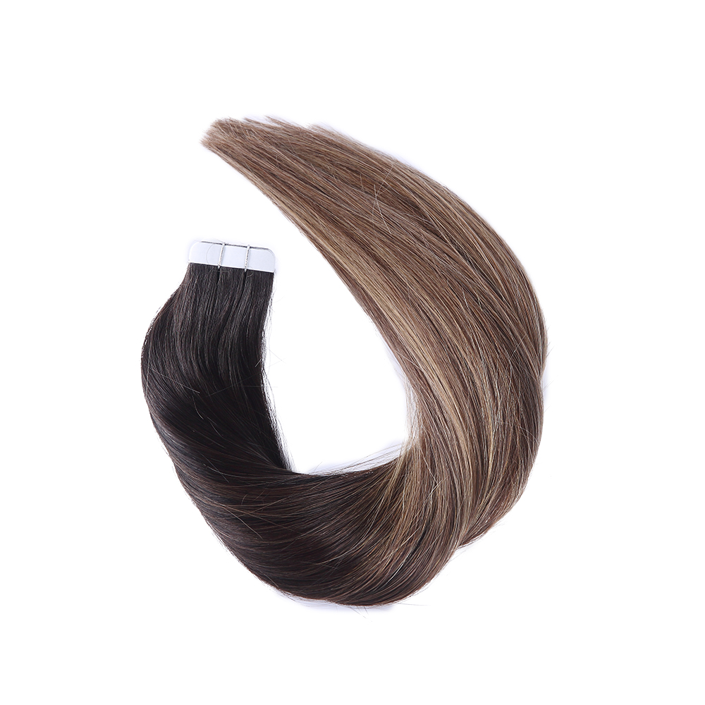 Tape in Human Hair Extension Balayage Color #1b 4b 27b Skin Weft Human Hair Straight Remy Hair Adhesive Tape Hair Extension