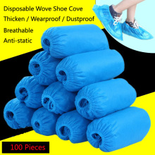 цена на 100 Pcs/Pack Disposable Thickening Wove Dustproof House Overshoe Cycling  Wearproof Lab Shoes Covers Protector Care Kits