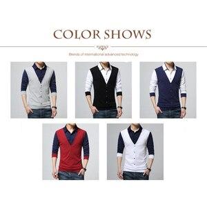 Image 3 - Browon Merk Herfst Mens T Shirts Fashion 2020 Nep Twee Designer Kleding Cool T shirt Mannen Lange Mouw T shirt Toevallige mannelijke