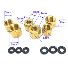 10 pcs Large/Small Copper Nut O ring Sscrew 2*3mm and 4*3mm For Epson UV Damper 1390 DX7 DX4 DX5 Ink Tube