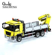 Nowy Technic MOC 4156 MAN ciężarówka transportowa funkcja zasilania zdalnie sterowany silnik pojazdu klocki edukacyjne prezenty dla dzieci