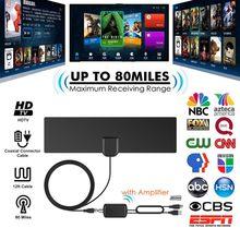 Antenne de télévision numérique HD prend en charge les canaux locaux 4K 1080P VHF UHF Freeview avec câble coaxial amplificateur détachable