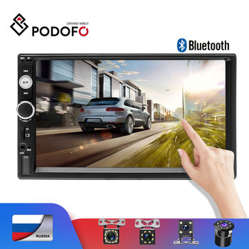 Podofo 2 din car radio 7 Touch Digital Display MP5 Auto Car audio Autoradio Bluetooth USB 2din Multimedia Player Backup Monitor image