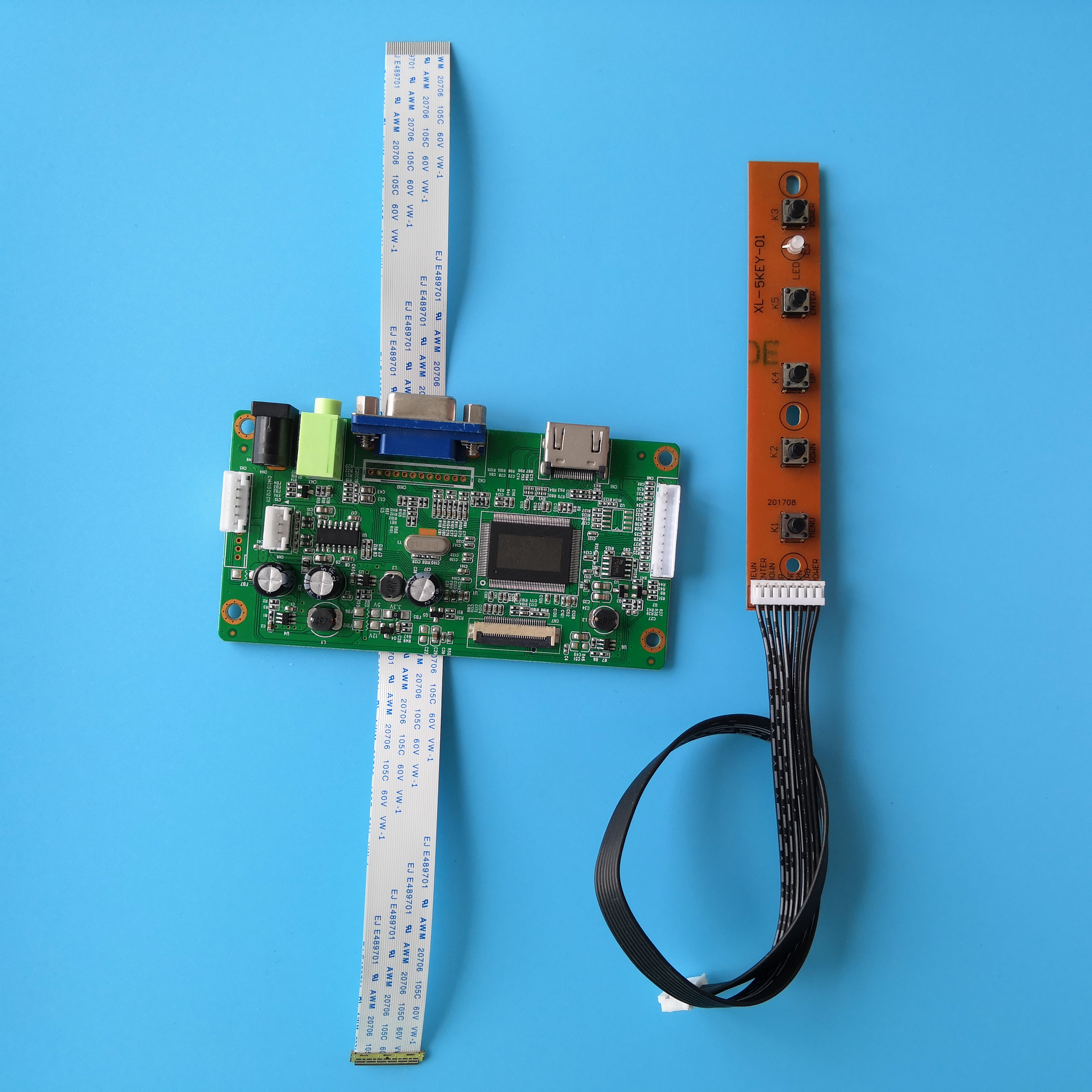 For B156XW04 V8 Monitor 1366X768 DIY 30Pin Controller Board SCREEN Display KIT VGA DRIVER LCD EDP 15.6