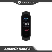 Neue 2020 Globale Version Amazfit Band 5 Mehrsprachig 15 Tage Batterie Lebensdauer 5ATM Wasser beständig