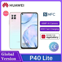 HUAWEI P40 Lite/P40 Lite E Hisilicon Kirin 810 6 + 128GB NFC Octa Núcleo Smartphone 40W мартфоны 48MP AI Câmeras 6.4 ''Tela FHD