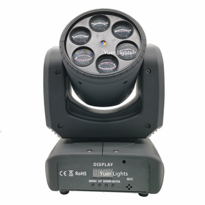Image 2 - שישה דבורה עין לייזר מופע אור 6X10W RGBW 4IN1 Beam הזזת ראש אורות Dj לייזר ריקוד מקרן עבור דיסקו אור מוסיקה מסיבת אורות