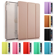 цена на Tablet Case for iPad Air 9.7 inch PU Leather Silicone Soft Clear Back Cover with Trifold Smart Stand Cover for Apple iPad Air 1
