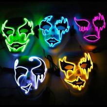 Halloween Led Light Mask Up Party Masks Neon Skull Scary Adult Festival Cosplay Costume Horror Vendetta