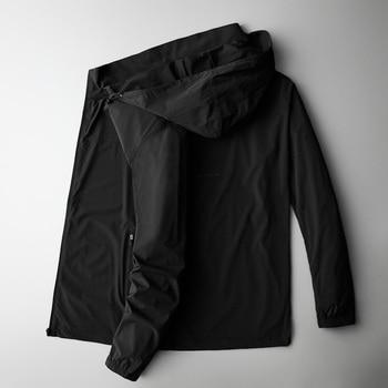 2020  plus size 8XL 7XL Men jacket thin  long sleeve jackets windbreaker hooded windbreaker jacket men's clothing brand clothing