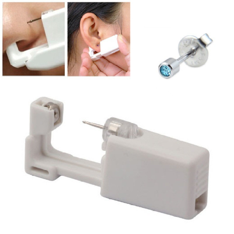 Nose Stud Piercing Gun Tool Earring Star Disposable No Pain Safe Sterile Ear Stud Piercing Gun Build In Steel Stud