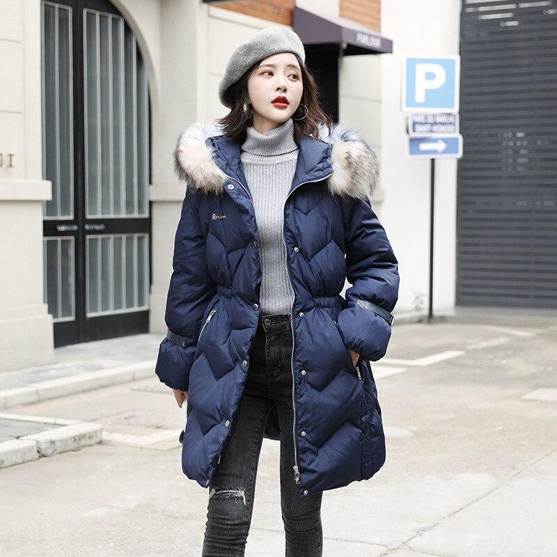 2020 Winter Women's Down Jacket Hooded Korean Puffer Coat Female Jacket Duck Down Coat Chaqueta Mujer 8910 YY1230