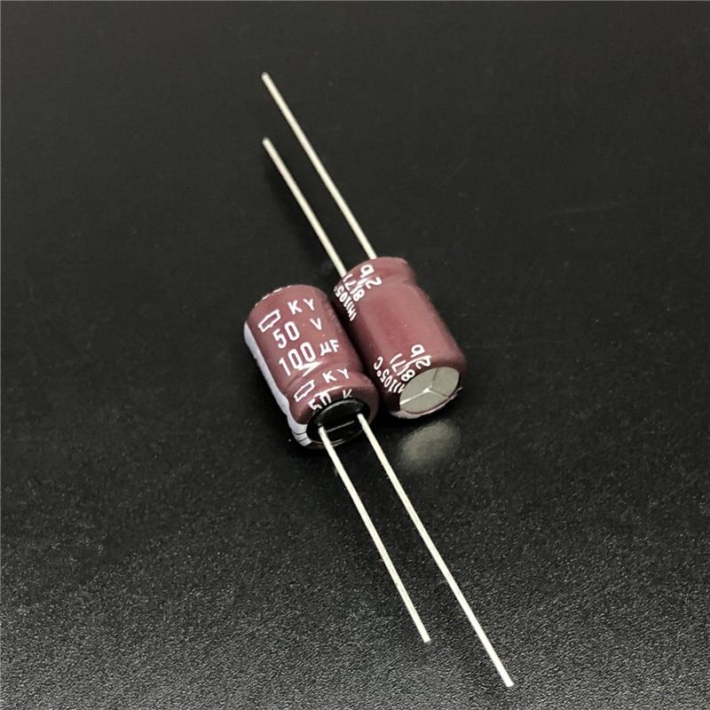 10pcs 100uF 50V NCC KY Series 8x11.5mm Low ESR 50V100uF Aluminum Electrolytic Capacitor