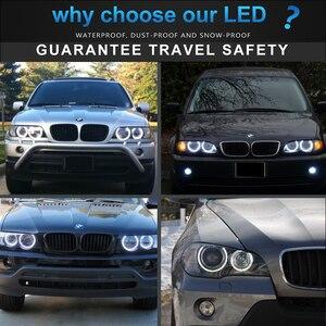 Image 5 - 4pcs Dual color White Yellow LED Angel Eyes Halo Ring Lighting Kit For BMW E46 3 Series Non HID Headlights 323i 325i 328i 330i