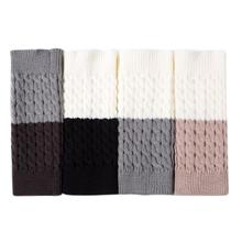 купить Women Knitted Leg Warmers Woolen Leggings Color Blocks Boot Socks for Ladies дешево