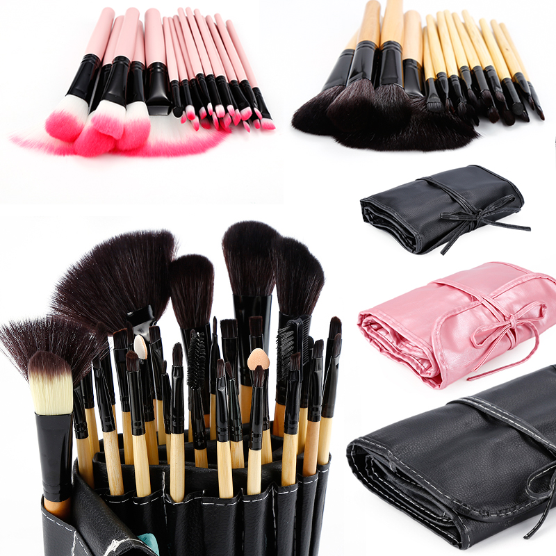32 Pcs/lot Makeup Brushes Set For Foundation Powder Blush Eyeshadow Concealer Lip Eye Make Up Brush Pink Cosmetics Tools TSLM1