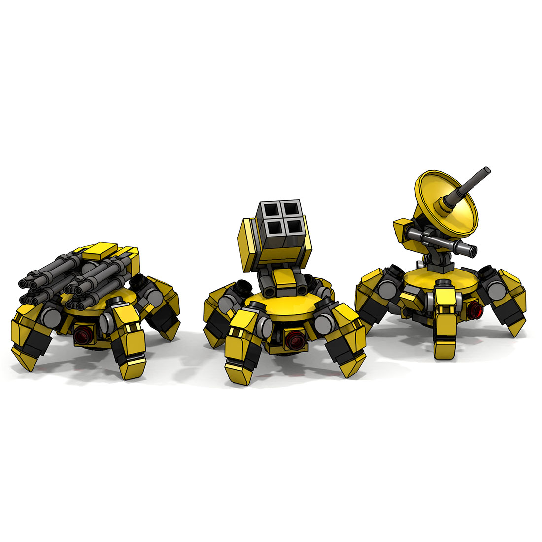 MOC Mini Multi-legged Trouble-maker Model Small Particle Building Blocks Educational Toy Set Boy Christmas Birthday Gift
