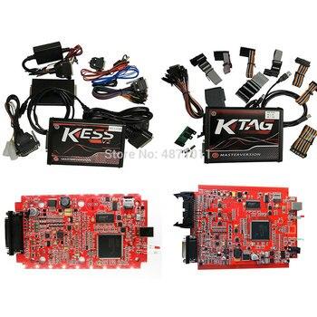 цена на Ksuite Red PCB EU Online Master Version ECU Programmer Kess V2 V5.017 V2.53 OBD2 Chip Tuning Tool KTAG V7.020 V2.25 4 LED K-TAG