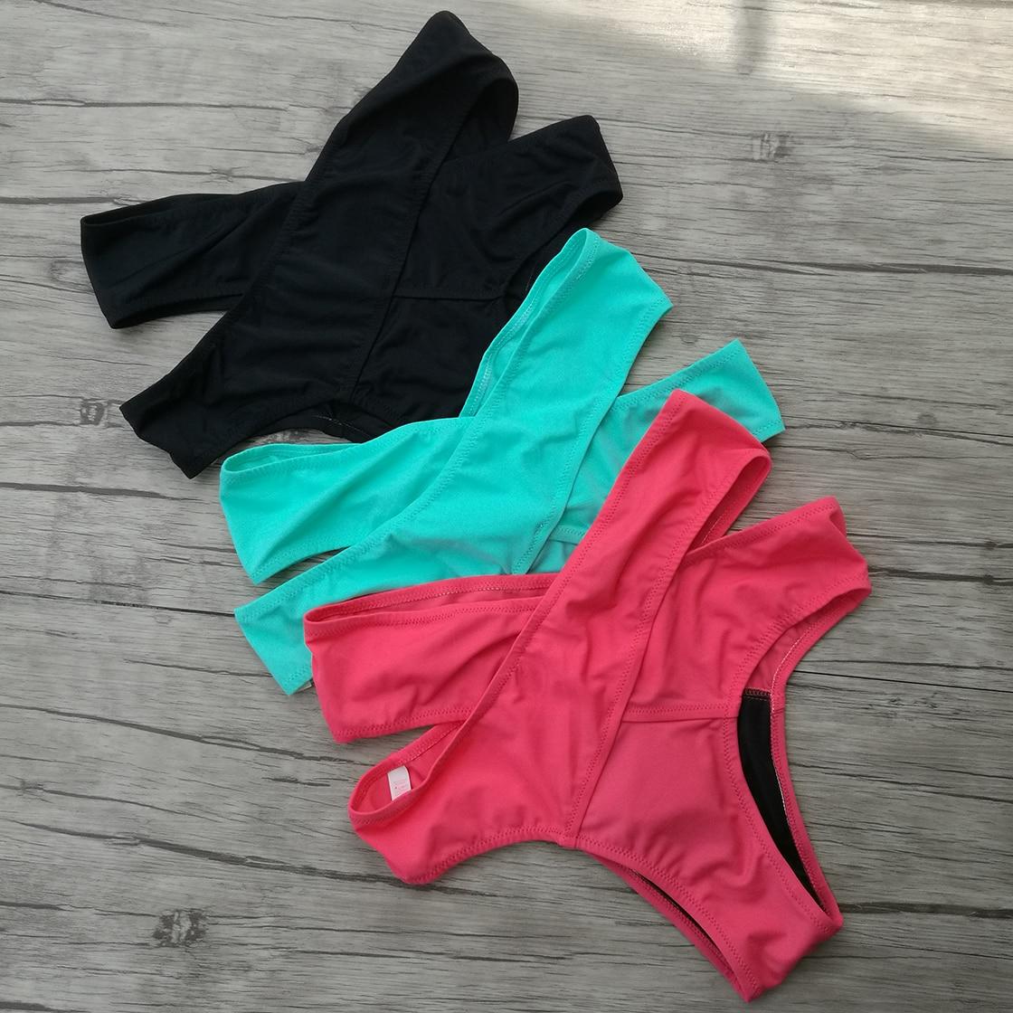 Women's Sexy Bikini sets Black Red Bikinis Top Women Bikini Bottoms Swimwear Green Secret Brazilian High Waist Bottom 1