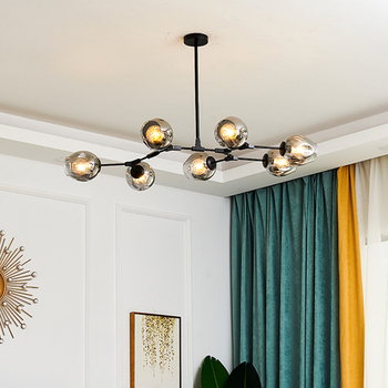 Modern LED Chandelier Lighting Glass Lustre LOFT Dining Bedroom Bedroom Ball chandeliers Kitchen Fixtures Luminaire pendant lamp 1