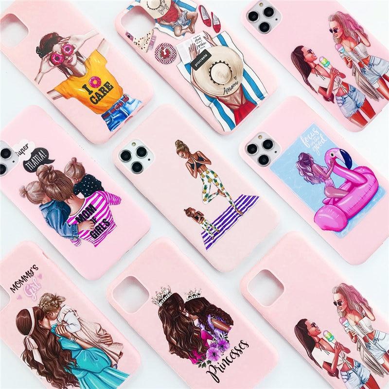 Lovebay силиконовый чехол для телефона с рождественским рисунком для iPhone 7 8 6 6s Plus 11 Pro X XR XS Max 5 5S SE женщина девушка Санта Клаус мягкая задняя крыш...