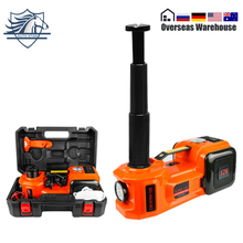 5Ton Car Jack Electric Hydraulic Jack Protable Tire Lifting Car Repair Tool Electric Wrench Inflator Flashlight Safe Hammer 3in1