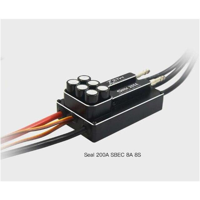 Uszczelka ZTW 200A SBEC 8A 8S bezszczotkowy esc doskonała wydajność dla zdalnie sterowana łódka rc