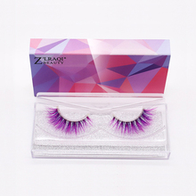 New 3D color false eyelashes mink thick stereo