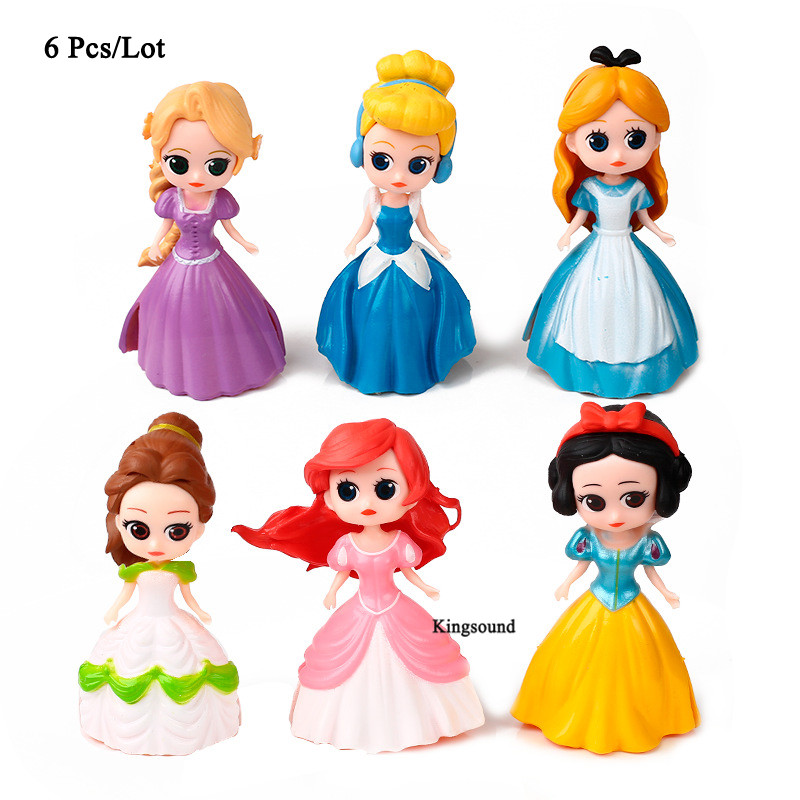first birthday girl party gifts alice princess party supplies cinderella snow white belle action & toy figures cake topper doll
