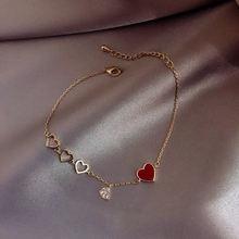 Новый модный красный золотой браслет для вечерние женщин креативная