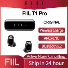 Oryginalny FIIL T1 Pro T1 Lite TWS prawdziwe bezprzewodowe słuchawki douszne aktywne słuchawki z redukcją szumów Bluetooth 5.2 słuchawki IPX5 wodoodporne