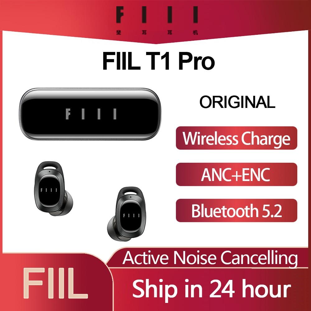 Original fiil t1 pro t1 lite tws verdadeiro sem fio fones de ouvido ativo noice cancelamento fone bluetooth 5.2 ipx5 à prova dwaterproof água