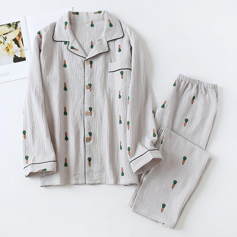 Fdfklak New Nightwear For Man Pijama Cotton Sleepwear Spring Autumn Long Sleeve Night Clothes Men 2 Pieces Pajama Set Pyjama