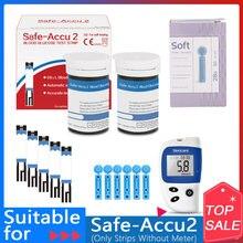 Sinocare güvenli Accu2 50/100/200 adet kan şekeri test şeritleri 50/100/200 adet lancet iğneler kan şeker algılama glikoz