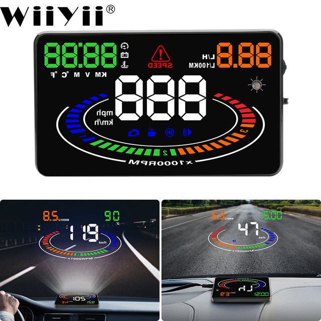 Affichage tête haute de voiture, pare brise 5.5 pouces E300 HUD, OBD2, projecteur de pare brise, OBD UE MPH KM/H, élimination du Code défaut, alarme de sécurité