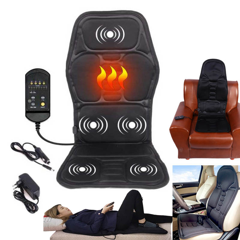 Electric Massage Chairs-Seat Heat-Pad Vibrator Back-Neck Waist-Body for Leg title=