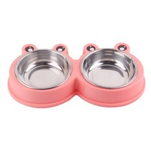 Double Pet Bowls Dog Food Water Feeder Stainless Steel Pet Drinking Dish Feeder Cat Puppy Feeding Supplies Dog Accessories