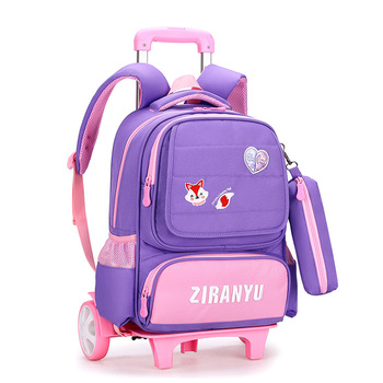 children Trolley School Backpack Wheels Travel Bag Schoolbag kids trolley School Bags For Girls Detachable Mochila Escolar kids wheels removable trolley school backpack children school bags girls kids travel bag princess schoolbag mochilas escolares
