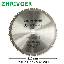 Carbide cutting blade TCT woodworking saw universal hard soft multi function circular 210 * 25.4 24t