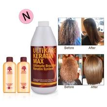 Professional Ultikare 1000ml Brazilian Keratin in Hair&Scalp Treatment+Mini Travel Argan Oil Hair Shampoo and Conditioner Set