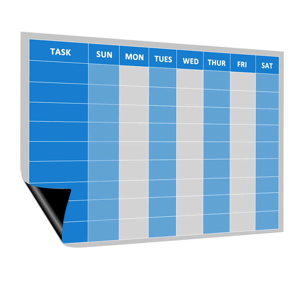 Магнитная белая доска с 8 стилями, еженедельная белая доска с функцией сухой стирания для холодильника, ежемесячная Планерная Таблица для K