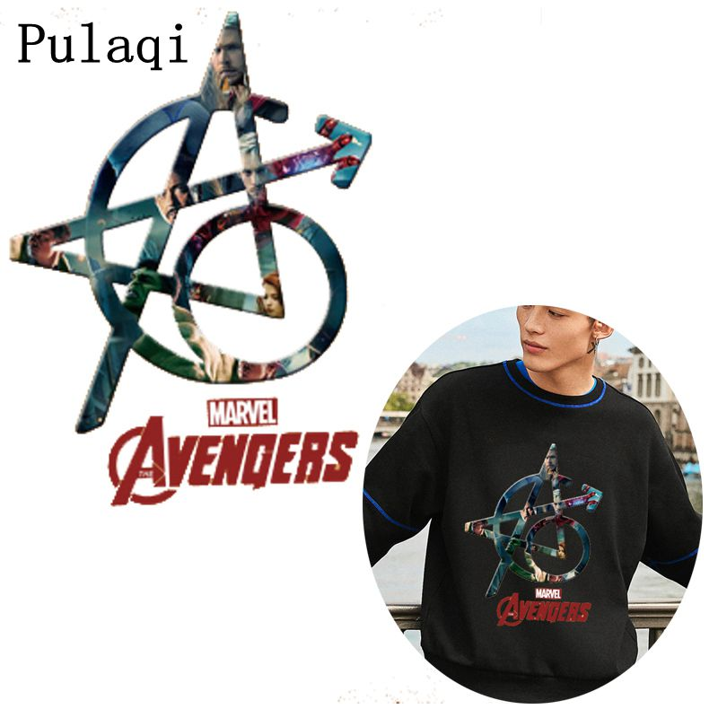 Pulaqi Captain America <font><b>Marvel</b></font> Heat Transfers <font><b>Patch</b></font> <font><b>For</b></font> <font><b>Clothing</b></font> Fashion Cool Man Style <font><b>Patch</b></font> Ironing Sticker <font><b>For</b></font> Jacket Applique image