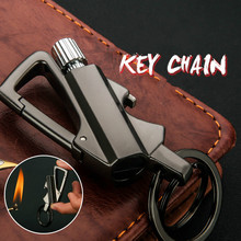 fashion men women emergency gear fire stash waterproof mini lighter pendant keychain key chain key ring real fire lighter Million Times Matches Fire Starter 10,000  Lighted Kerosene Lighter Keychain pendant Multifunctional Outdoor Waterproof