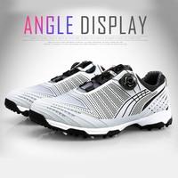 Drawbar Golf Shoes Men Sports Shoes Waterproof Sports Sneakers Knobs Shoelace Buckle Anti slip YS BUY